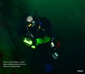 Underwater poser! Photo by Diane Reid.