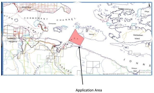 Weyl Power Application -  Johnstone Strait between Hanson Island and Telegraph Cove. File: #1414321